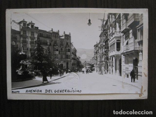 ALCOY - POSTAL PROTOTIPO ARCHIVO FOTOGRAFICO ROISIN - FOTO PEGADA-VER FOTOS-(52.050) (Postales - España - Comunidad Valenciana Antigua (hasta 1939))
