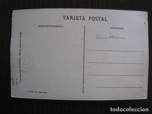 Postales: BENIDORM - POSTAL PROTOTIPO ARCHIVO FOTOGRAFICO ROISIN - FOTO PEGADA-VER FOTOS-(52.051) - Foto 4 - 112920519