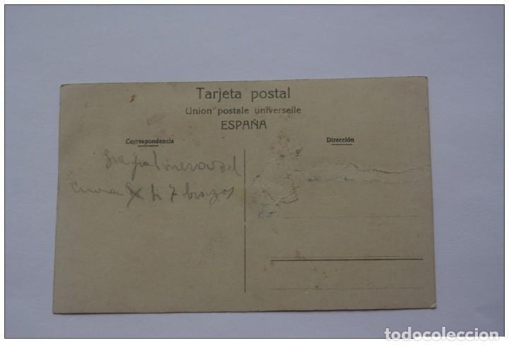 Postales: PINOSO / MONÓVAR ?? (ALICANTE) COLEGIO E IGLESIA CAMPO FUTBOL INTERIOR - RARA POSTAL - Foto 2 - 113586215