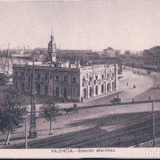 Postales: POSTAL VALENCIA - ESTACION MARITIMA - JDP. Lote 113592107