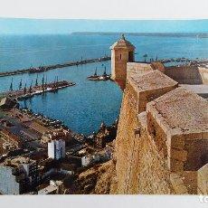 Postales: POSTAL GRAN FORMATO. VISTA DEL PUERTO DESDE EL CASTILLO ALICANTE. SIN ESCRIBIR. Lote 115060015