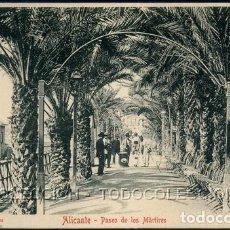 Postales: POSTAL ALICANTE PASEO DE LOS MARTIRES . JUAN MOSCA . CA AÑO 1900. Lote 115124631