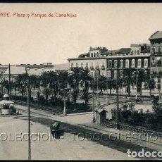 Postales: POSTAL ALICANTE PLAZA Y PARQUE DE CANALEJAS . THOMAS . CA AÑO 1910-20. Lote 115124783
