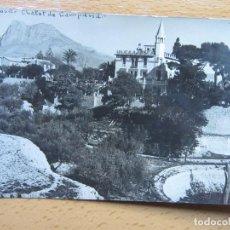 Cartes Postales: VILLAJOYOSA , ALICANTE , CHALET DE CAMPANA , MARCET , FOTOGRAFICA.. Lote 115701363