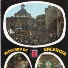 Postales: VALENCIA TRASLADO DE LA VIRGEN NTRA SRA DE LOS DESAMPARADOS Y OFRENDA A LA VIRGEN. Lote 116265047