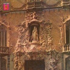 Postales: VALENCIA FACHADA DEL PALACIO DEL MARQUES DE DOS AGUAS. Lote 116449771