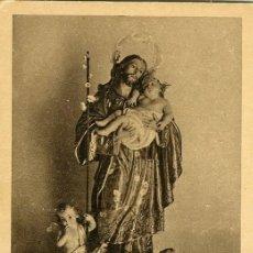 Postales: ALCOY. FELICITACIÓN JOSEFINA EN IGLESIA DE SAN AGUSTÍN, AÑO 1927. DORSO IMPRESO CON EL PROGRAMA...... Lote 116800043
