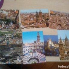 Postales: 8 POSTALES VISTA AEREA VALENCIA COLOR AÑOS 60 O 70.. Lote 117211595