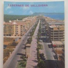 Postales: TABERNES DE VALLDIGNA :AVENIDA DE LA PLAYA 80'S. Lote 118439291
