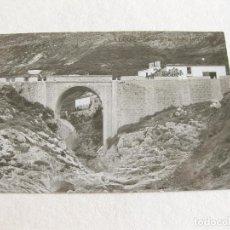Postales: POSTAL FOTOGRÁFICA DE ALCOY - PUENTE DE LA BATALLA - PRINCIPIOS DEL SIGLO XX. Lote 120179591