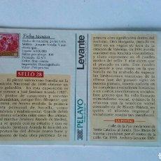 Postales: COLECCIÓN SELLOS Y POSTALES LEVANTE VALENCIA N° 28. Lote 120249466