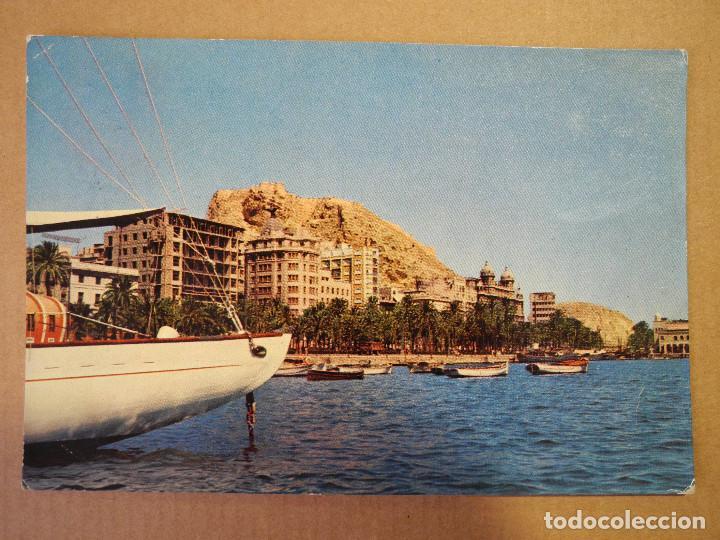 POSTAL N. 18 ALICANTE. PUERTO VISTA PARCIAL. CIRCULADA 1961 (Postales - España - Comunidad Valenciana Moderna (desde 1940))