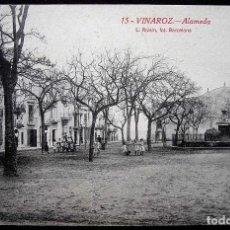 Postales: VINAROZ. VINARÒS. CASTELLÓN. ALAMEDA. ANIMADA. ORIGINAL DE ÉPOCA.. Lote 121342807