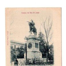 Postales: VALENCIA.- ESTATUA DEL REY D. JAIME, RECUERDO DE VALENCIA. Lote 122150799