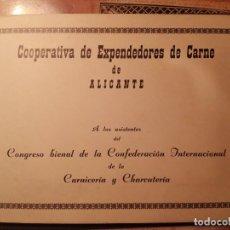 Postales: ALICANTE Y PROVINCIA - LIBRO POSTALES DE LA COOPERATIVA DE EXPENDEDORES DE CARNE - AÑOS 70. Lote 122728511