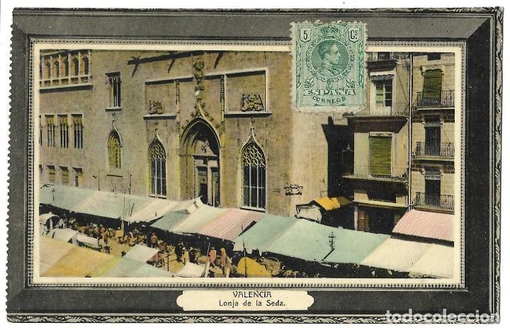 1911 POSTAL VALENCIA LONJA DE LA SEDA. CIRCULADA (Postales - España - Comunidad Valenciana Antigua (hasta 1939))