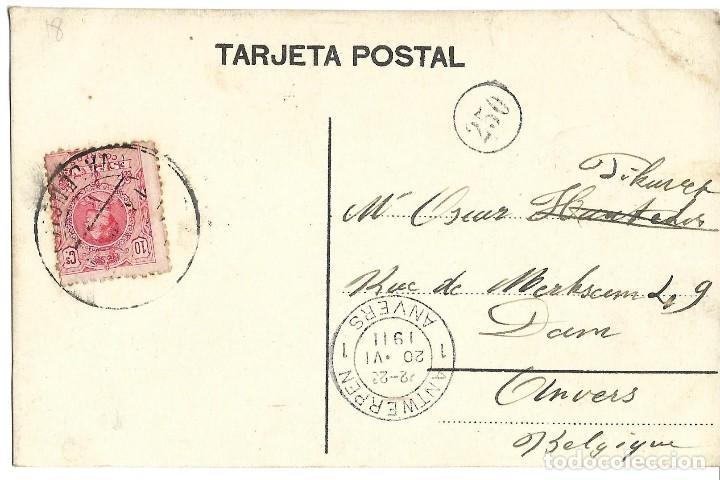 Postales: 1911 POSTAL VALENCIA LONJA DE LA SEDA. CIRCULADA - Foto 2 - 122940011