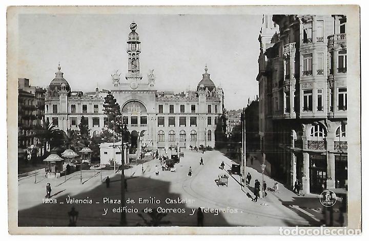 VALENCIA. PLAZA DE EMILIO CASTELAR. Nº 1203. EDICIONES UNIQUE. (Postales - España - Comunidad Valenciana Antigua (hasta 1939))