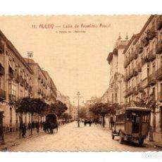 Postales: ALICANTE. ALCOY.- CALLE DE ANSELMO ARACIL. FOT. L. ROISIN. Lote 124277359