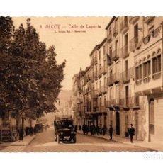 Postales: ALICANTE. ALCOY.- CALLE DE LAPORTA. FOT. L. ROISIN. Lote 124322075