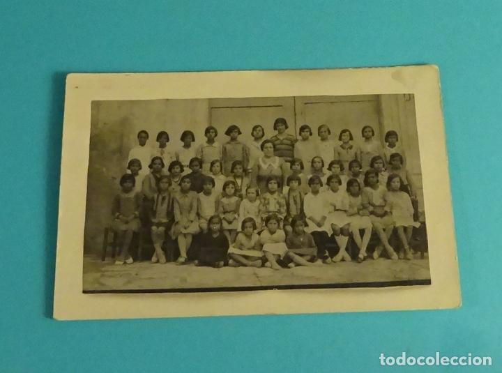 POSTAL FOTOGRÁFICA ESCUELA DE NIÑAS. JARAFUEL 1932 (Postales - España - Comunidad Valenciana Antigua (hasta 1939))
