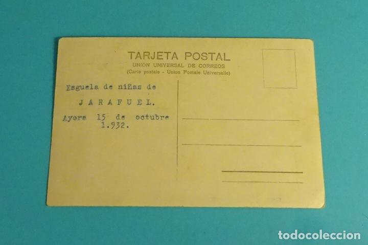 Postales: POSTAL FOTOGRÁFICA ESCUELA DE NIÑAS. JARAFUEL 1932 - Foto 2 - 124563183