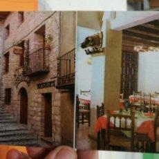 Postales: POSTAL MORELLA CASTELLON EL MESON EL PASTOR RESTAURANTE Y DISCOTECA. Lote 125130659