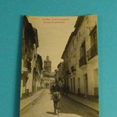 Postales: POSTAL Nº 7 AYORA - CALLE CANALEJAS (ANTES EMPEDRADO). GEOGRAFÍA DEL REINO DE VALENCIA 5.780. Lote 125935947