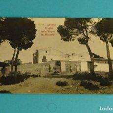 Postales: POSTAL Nº 8 AYORA - ERMITA DE LA VIRGEN DEL ROSARIO. GEOGRAFÍA DEL REINO DE VALENCIA 5.768. Lote 125936091