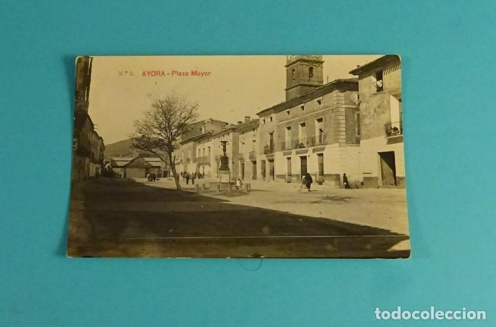POSTAL Nº 5 AYORA - PLAZA MAYOR. GEOGRAFÍA DEL REINO DE VALENCIA 5.766 (Postales - España - Comunidad Valenciana Antigua (hasta 1939))