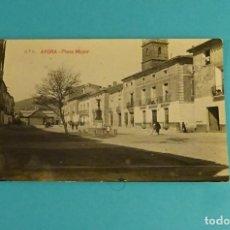 Postales: POSTAL Nº 5 AYORA - PLAZA MAYOR. GEOGRAFÍA DEL REINO DE VALENCIA 5.766. Lote 125936239
