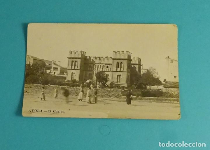 POSTAL AYORA - EL CHALET. UNION POSTALE UNIVERSELLE (Postales - España - Comunidad Valenciana Antigua (hasta 1939))