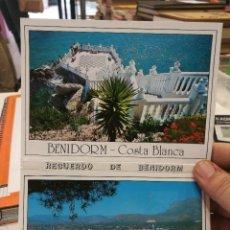 Postales: POSTAL BENIDORM COSTA BLANCA BLOC CON DIEZ POSTALES. Lote 126038743