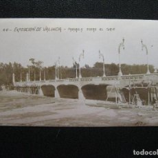 Postales: EXPOSICION REGIONAL VALENCIANA. 1909. PASARELA SOBRE EL TURIA. Lote 126869555