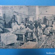 Postales: VALENCIA - LABORATORIO DEL DOCTOR TRIGO, TRABAJO DEL LIMON. Lote 127139875