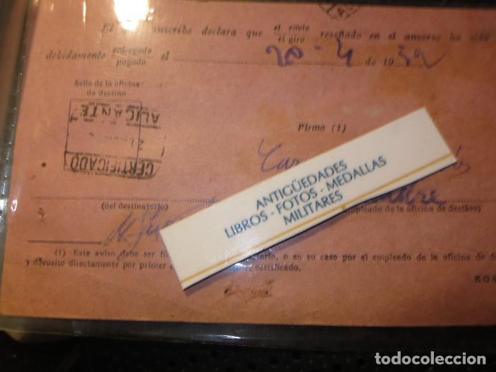 RARA POSTAL ALICANTE ANTIGUA ADMINISTRACION CORREOS MOD,. 35 CUÑO Y SELLO (Postales - España - Comunidad Valenciana Antigua (hasta 1939))