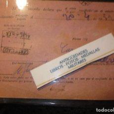 Postales: RARA POSTAL ALICANTE ANTIGUA ADMINISTRACION CORREOS MOD,. 35 CUÑO Y SELLO. Lote 127242403