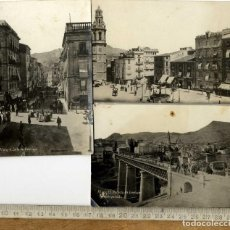 Postales: ALCOY ALACANT CARTAGENA PUBLICIDAD RARO CONJUNTO 3 POSTALES FOTOGRAFICAS. Lote 127600903