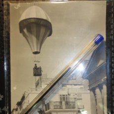 Postales: HOGUERAS PLAZA JUNTO A TEATRO PRRINCIPAL ALICANTE POSTAL DE 1928 ORIGINAL CUÑO REVERSO LUCENTUM. Lote 127605127
