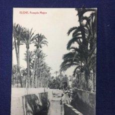 Postales: POSTAL ANTIGUA ELCHE ACEQUIA MAYOR FOTOTIPIA THOMAS N 1913 NO ESCRITA NI CIRCULADA. Lote 128009735