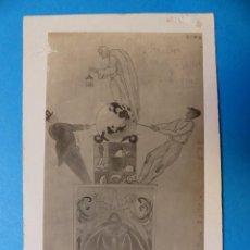 Postales: VALENCIA - FALLAS BOCETO CONDE TRENOR Y LIBERTAD - FOTOGRAFICA. Lote 128604819