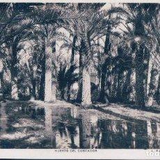Postales: ANTIGUA FOTO POSTAL DE ELCHE (ALICANTE) HUERTO DEL CONTADOR - L. ROISIN. Lote 128898651