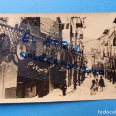 Postales: MORELLA, CASTELLON - EN FIESTAS - POSTAL FOTOGRAFICA - AÑOS 1920-30. Lote 129431011