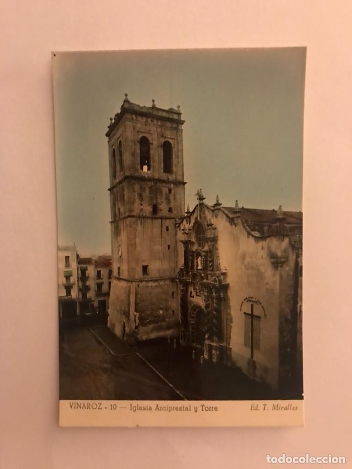 VINAROZ (CASTELLÓN) POSTAL NO. 10. IGLESIA PARROQUIAL Y TORRE. EDITA: EDICIONES T. MIRALLES (H.1950? (Postales - España - Comunidad Valenciana Moderna (desde 1940))