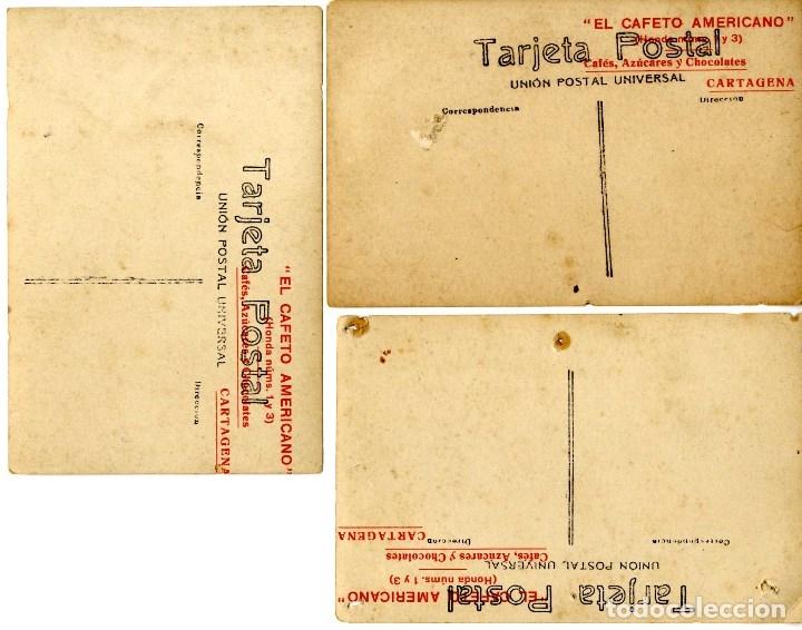 Postales: ALCOY ALACANT CARTAGENA PUBLICIDAD RARO CONJUNTO 3 POSTALES FOTOGRAFICAS - Foto 3 - 127600903