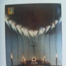 Postales: POSTAL DE JAVEA ( ALICANTE ): INTERIOR IGLESIA PARROQUIAL DEL PUERTO. AÑOS 60. Lote 130383094
