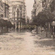 Postais: FANTÁSTICA POSTAL RIADA VALENCIA OCTUBRE 1957 CALLE DE LAS BARCAS. BANCO. JDP Nº 688 SIN CIRCULAR AA. Lote 224971595