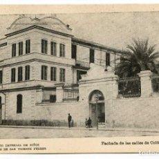 Postales: VALENCIA COLEGIO IMPERIAL DE NIÑOS HUÉRFANOS DE SAN VICENTE FERRER. FACHADA CALLES COLÓN Y LAURIA. Lote 131103388
