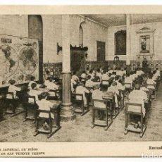 Postales: VALENCIA COLEGIO IMPERIAL DE NIÑOS HUÉRFANOS DE SAN VICENTE FERRER. ESCUELA DE NIÑOS. Lote 131103576