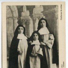 Postales: VALENCIA COLEGIO IMPERIAL DE NIÑOS HUÉRFANOS DE SAN VICENTE FERRER. UNIFORME DE NIÑAS. Lote 131103624